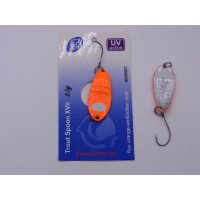 Paladin Trout Spoon XVII orange-weiss/silber matt 2,7g
